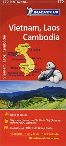 Mapa National VIETNAM, LAOS, CAMBODGE (Mapas National Michelin) (Spanish Edition)