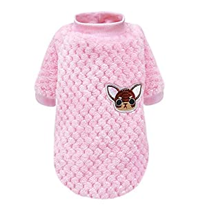 Faironly Sweat-Shirt d'hiver pour Chien Style décontracté Pyjama Manteau pour Petits Chiens Chihuahua Carlin Vêtements Chiot