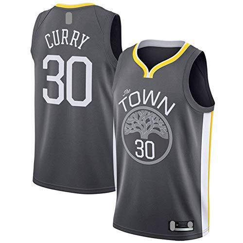 LANHUA Swingman JerseyBasketball Jersey #30 Stephen Golden Outdoor State Sports Warriors #30 Curry Sudadera Negro - Declaración Edition-S