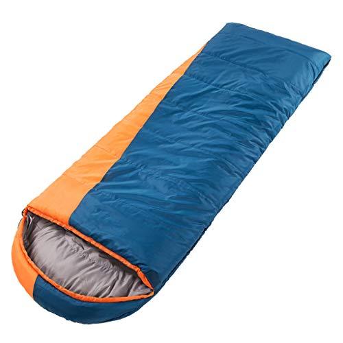CATRP Épaissir Sac De Couchage Adulte Extérieur Hiver Protection Contre Le Froid Garder Au Chaud Camping Voyage Individuel (Color : Blue+Orange)