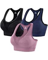 Heathyoga High Impact Sports Bras for Women Padded Sports Bras for Women Workout Bras for Women Racerback Bras Yoga Bras