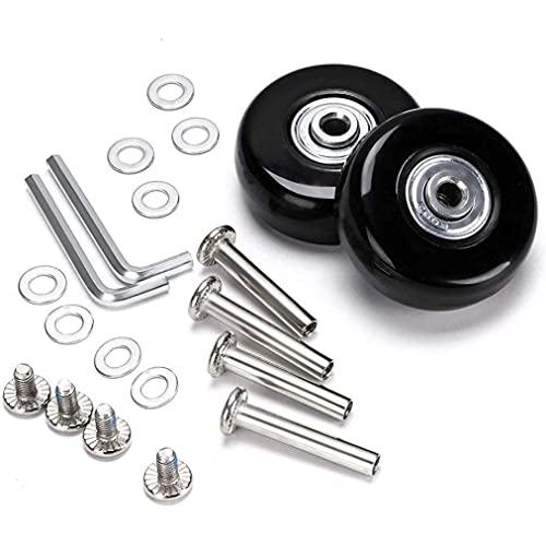 Ruedas de repuesto para maletas, ruedas de goma, ruedas de repuesto para trolley Samsonite, rígidas, con rodamientos de bolas, juego de reparación, 50*6*18mm Achsenlänge: 30mm.35mm,