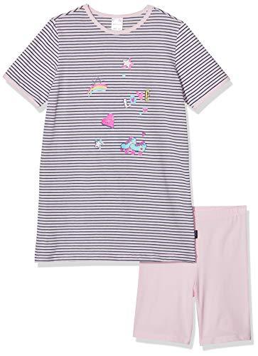 Schiesser Mädchen Girls World Md kurz Zweiteiliger Schlafanzug, Rot (Rosé 506), (Herstellergröße: 128)