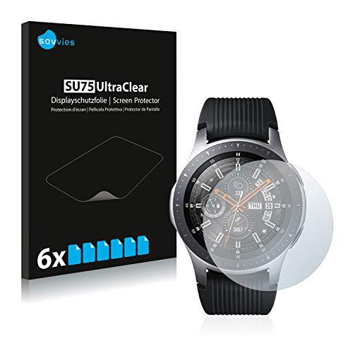 savvies 6-Pezzi Pellicola Protettiva Compatibile con Samsung Galaxy Watch (46 mm) Protezione Schermo Trasparente