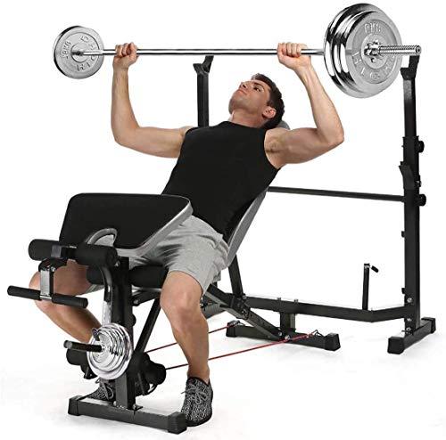 Banco de peso Ejercicio Entrenamiento Dumbbell Banco Ajustable Peso Olímpico Banco con el desarrollador de la pierna para el levantamiento de pesas y el entrenamiento de la fuerza y el soporte de la
