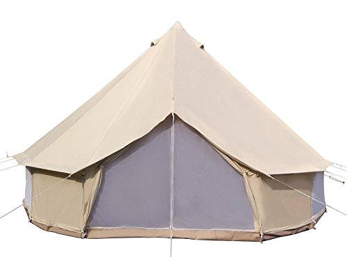 Dream House Diameter 3M Cotton Canvas Winter Camp Sibley Tent Waterproof Bell Tent