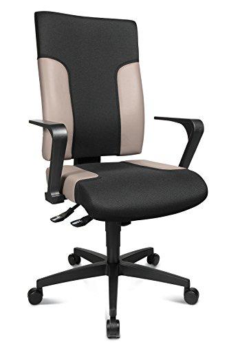 Topstar Two 20 TF20RS130 Bürostuhl, mit festen Armlehnen R2 OPA, Stoffbezug, schwarz/grau