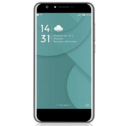 Doogee Mobile Y6 5.5' SIM Doble 4G 2GB 16GB 3200mAh Plata - Smartphone (14 cm (5.5'), 2 GB, 16 GB, 13 MP, Android 6.0, Plata)