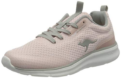 KangaROOS Damen KJ-Dyna Sneaker low, frost pink/vapor grey, 41 EU