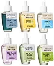 Bath and Body Works 6 Pack Spring Fragances Wallflowers Fragrances Refill. 0.8 Oz.