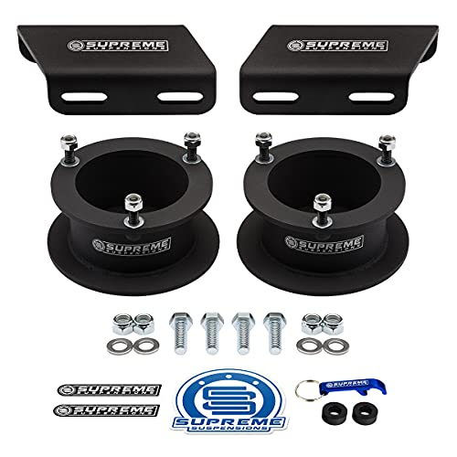 """Supreme Suspensions - 3.5"""" Front Lift Kit for 1994-2013 Dodge Ram 2500 3500 4WD and 1994-2001 Dodge Ram 1500 4WD High-Strength Steel Spring Spacers and Sway Bar Drop Brackets Kit"""