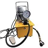 RANZIX Bomba hidráulica eléctrica con válvula manual, 7 L, 220 V, 10.000 PSI, bomba hidráulica eléctrica de acción única, unidad hidráulica 50 W