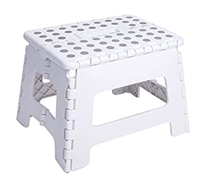 """Unity 9"""" Non Slip Foldable Step Stool Great For Kids And Adults With Handle Supports Up To 330Lbs"""