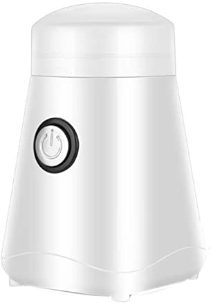 DQMBJ Coffee machine-Grinder Professional Heavy Duty Stainless Steel, Conical Burr Fine Grind, Adjustable Cup (Color : White)