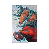 yique Pferd Friesen-Poster, dekoratives Gemälde, Leinwand,