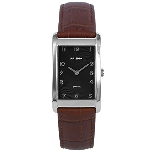Prisma Damen Armbanduhr Precise Quadra, Titan Silber mit Analog Quarz, 5 ATM und Saphirglas P.1966