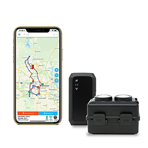 GPS Tracker - Optimus 3.0 4G LTE Bundle with Waterproof Twin Magnet Case - 1 Month Battery