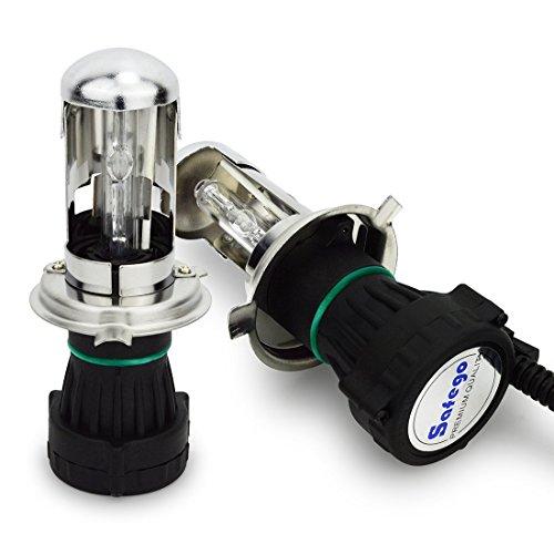 Safego 35W H4 H/L HID Bi-Xénon Ampoules Phares H4-3 High Low Lampe à Décharge Phare Ampoule de Rechange 8000K blanc froid Pour Voiture CA 12V
