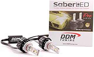 DDM Tuning 50W Saber Pro LED Headlight/Foglight, 10000LM, 6000K, Pair, 2 Year Warranty-FBA (9005/9006 / H10 / 9012)