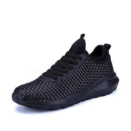 QZBAOSHU Respirant Chaussures de Course pour Femme Homme Taille de l'étiquette 44 = 44 EU Noir