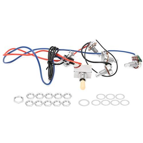 Cableado de guitarra Interruptor de 3 vías, Interruptor de 3 vías Macetas de 1/4 pulgadas Kit de arnés de cableado de guitarra Kit de cableado de guitarra para guitarra eléctrica