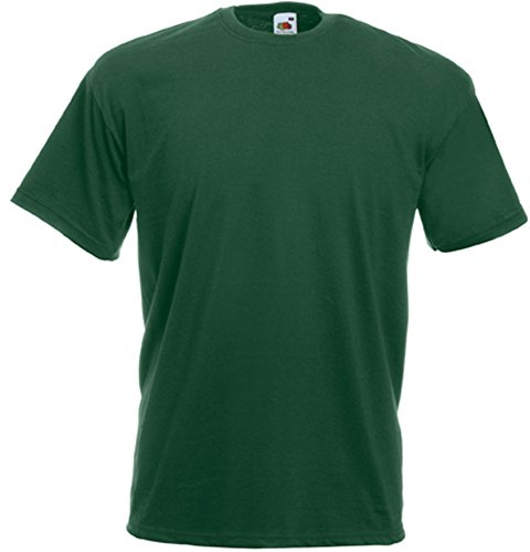 Fruit Of The Loom Herren Kurzarm T-Shirt M / 97-102cm Brust,Flasche
