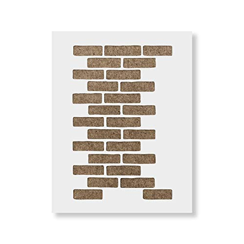 Brick Stencil Template - Reusable Wall Stencils for Painting & Home Decor - Made in USA