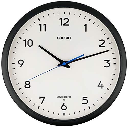 CASIO(カシオ) 掛け時計 電波 ブラック 直径31.1cm アナログ 夜間秒針停止 IQ-1013J-1JF