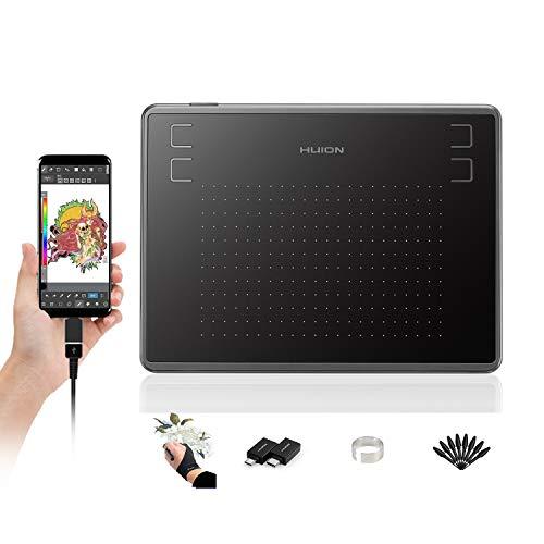 HUION Inspiroy H430P, 4,8 x 3 Zoll Grafiktablett, Grafiktablett mit Batterielosem Stift, OSU-Zeichenblock Kompatibel mit Mac Windows Android Ideal für Home-Office und E-Learning