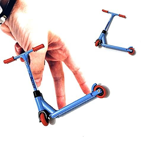 Finger Scooter - Juego de 2 piezas de aleación para niños y regalos de fiesta, multicolor con ruedas extraíbles, movimiento de la punta de los dedos