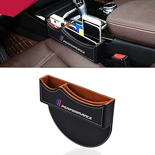 Oyadm Sitzspaltfüller, Aufbewahrungsbox für die Mittelkonsole, Autositz-Aufbewahrungsbox Für 1Series 2Series 3Series 4Series 5Series M X1 X2 X3 X5 (schwarz) (1 Stück)