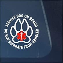 Service Dog ON Board Do Not Separate from Handler Clear Vinyl Decal Sticker for Window, Sign Art Print Design