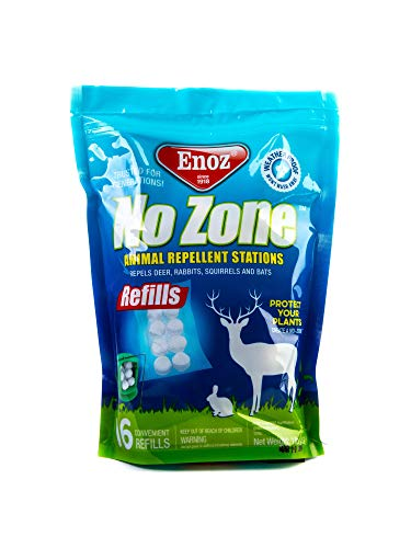 Enoz No Zone, Refills for Animal Repellent Stations 16 Refill Bag - Twin - White