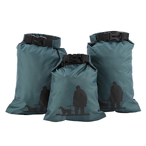 Almacenamiento de bolsas secas, bolsa impermeable de almacenamiento, bolsa de almacenamiento verde plegable plegable Nylon para rafting Senderismo Vela Kayak