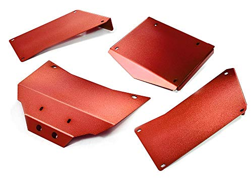 Integy RC Model Hop-ups C27003RED Aluminum Alloy Body Panel Kit for Axial 1/10 RR10 Bomber 4WD
