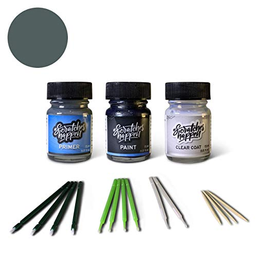 ScratchesHappen Exact-Match Touch Up Paint Kit Compatibel met Infiniti Harbour Blue (RAM) Preferred