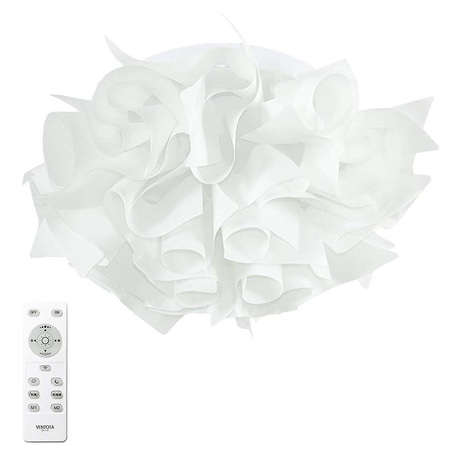 シェア癌どういたしましてVENTOTA リモコンで調光調色 花のようなシーリングライト 【Latria(ラトリーア)】 3600lm 演色性Ra85 簡単設置 おしゃれ 花柄 ペンダント ライト リビング 可愛い 落ち着く 美しい 天井 照明