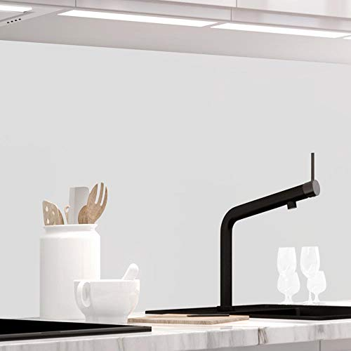 StickerProfis Küchenrückwand selbstklebend - Pure White - 1.5mm, Versteift, alle Untergründe, Hart PET Material, Premium 60 x 220cm