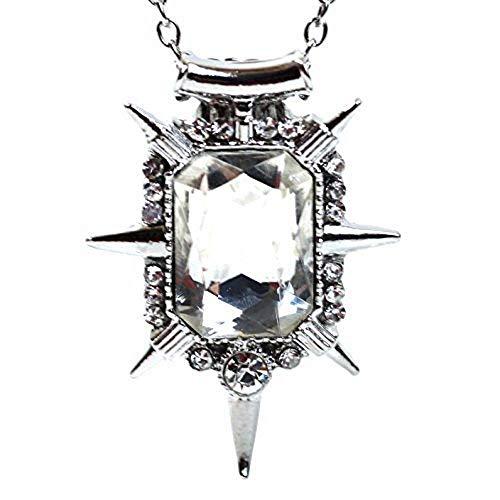 Ketting met transparante kristallen hanger van glindail tovenaar van oz heks van het zuiden - cadeau idee once upon a time