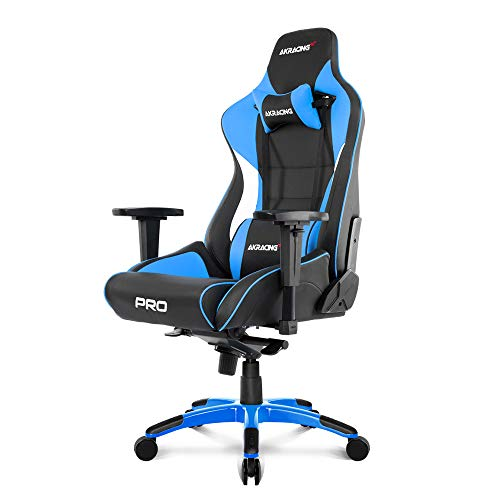 AKRacing Masters Series Pro Luxury XL Gaming Chair with High Backrest, Recliner, Swivel, Tilt, 4D Armrests, Rocker & Seat Height Adjustment Mechanisms, 5/10 Warranty,Blue -