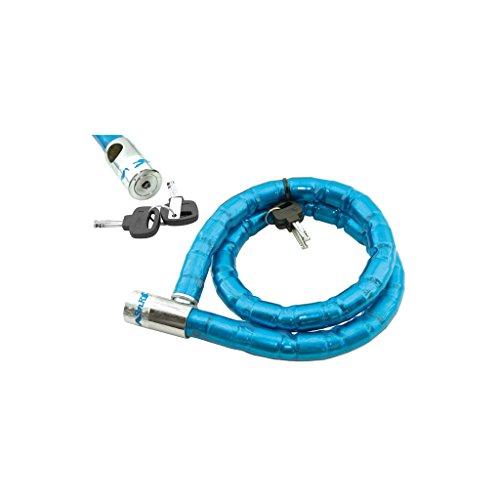 Hangslot kogelgewricht 25 mm blauw 100 cm fiets
