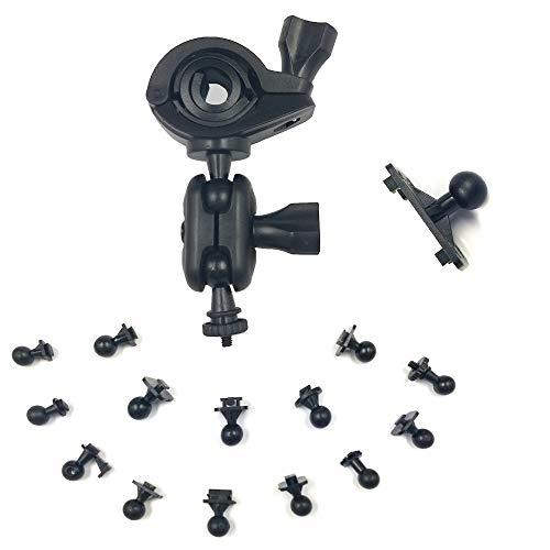 OLSMART Soporte para bicicleta/moto para cámara GoPro, soporte de vídeo GPS deportivo, DV, 16 tipos de articulaciones de salpicadero en Bracket Mount Bike Monteren 1/4 pulgadas schroef