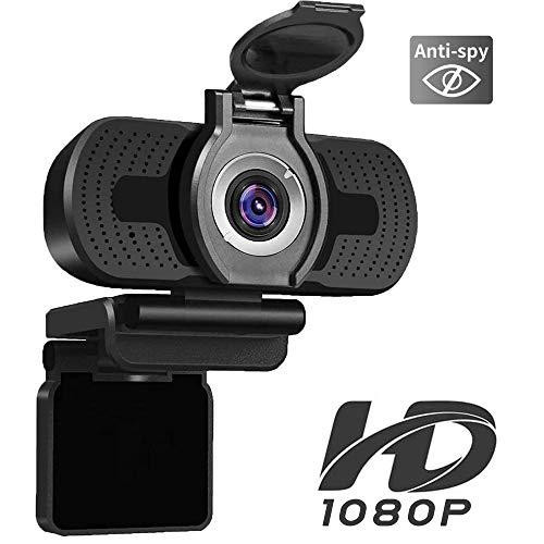 iAmotus 1080P Full HD Webcam mit Webcam Abdeckung,mit Mikrofon, Plug & Play-USB-Webkamera für Video-Chat Aufnahme und Konferenzen kompatibel mit OBS Twitch Skype YouTube PC Windows und Mac