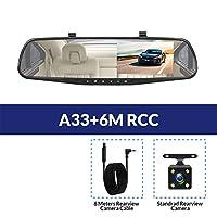 1080P車のDvrカメラ自動4.3インチバックミラーデジタルビデオレコーダー車載用DVD取り付け簡単 (Size:With 8G TF Card; Color:A33-6M RCC)