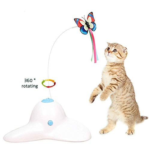 Zenes Funny Cat Toy Butterfly