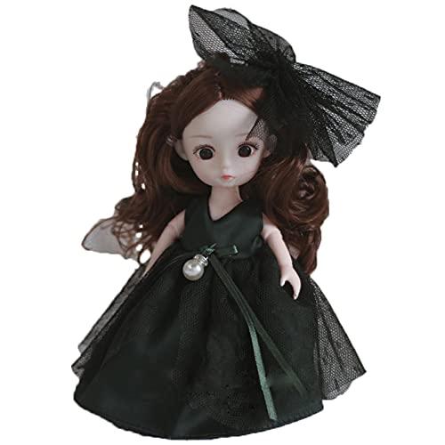 Brinquedo de boneca para meninas – linda boneca mini menina adorável decorativa de casamento Lolita boneca brinquedo, boneca de bebê de corpo macio, mini bonecas de simulação de bonecas 3D