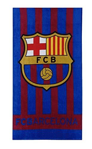FC Barcelona Club - Toalla de baño (70 x 140 cm), color azul marino