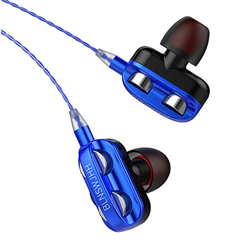 In Ear Kopfhörer mit Mikrofon und Lautstärkeregler Stereo Bass Kompatibel mit iPhone, Samsung, Xiaomi, Huawei, Sony, iPad, iPod, MacBook, MP3, Laptop, PC, 1,2 m