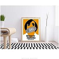 Rzhss ノーカントリー映画ミニマリストポスターキャンバスプリント家の装飾キャンバスにプリント-50X70Cmフレームなし