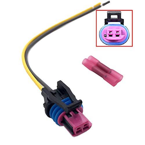 Aokus FOR GM LS 2-Wire Pigtail - Coolant Temperature Sensor Connector - Water Temp LS1 Plug Radiator Switch OEM Color LS1 LS3 LS2 LQ4 LQ9 LS6 L92 L99 L33 LR4